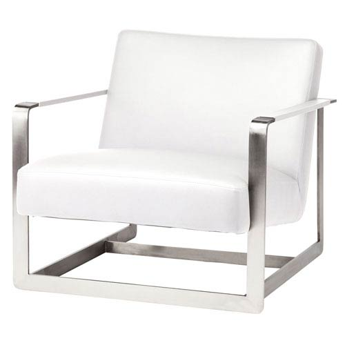 Suza White Accent Chair