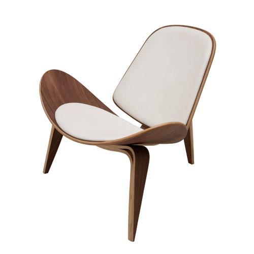 Artemis White Lounger Chair