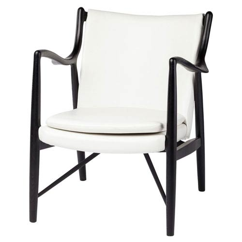 Chase White Accent Chair