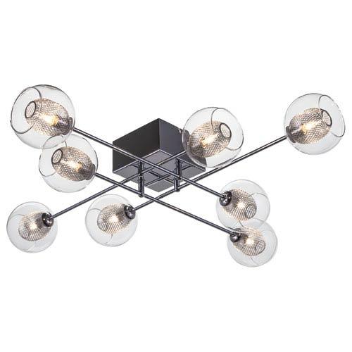 Estelle Chrome Eight-Light Semi Flush Mount