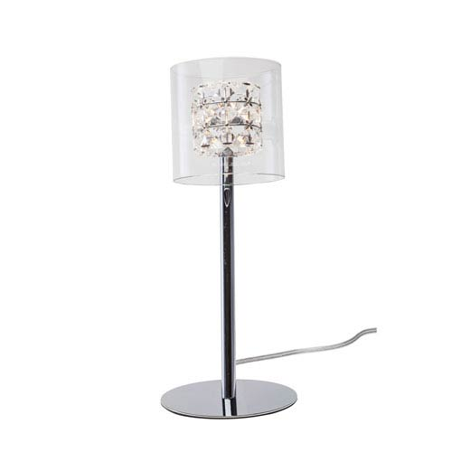 Elsa Chrome One-Light Table Lamp