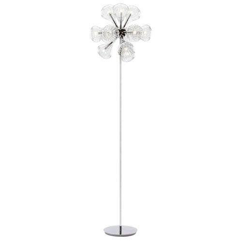 Tourine SIlver 12-Light LED Floor Lamp