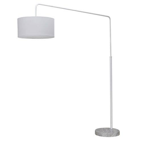 Raku White One-Light Floor Lamp