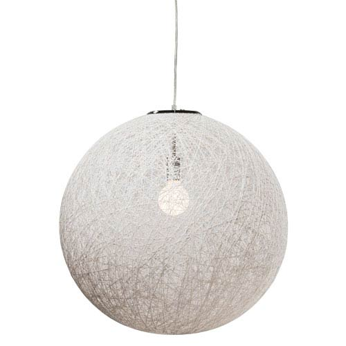 String White 24-Inch One-Light Pendant