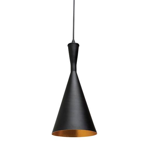 Lue Black and Matte Gold One-Light Mini Pendant