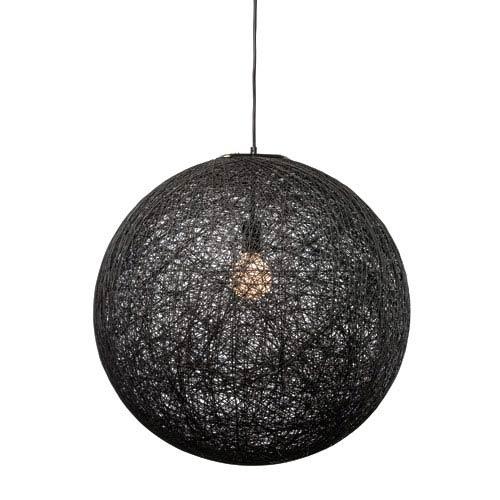 String Black 23.5-Inch One-Light Pendant