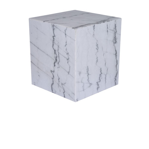 Matisse Matte White 20-Inch Side Table