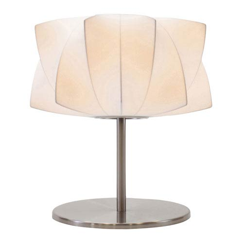 Lex White and Silver One-Light Table Lamp