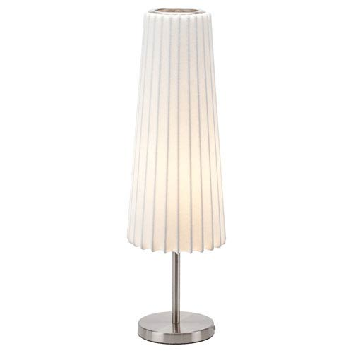 Abby White and Silver One-Light Table Lamp