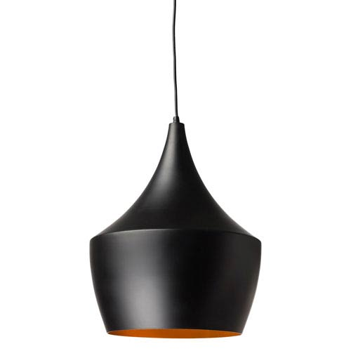 Karl Black and Matte Gold 14-Inch One-Light Pendant