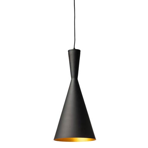 Lue Black and Matte Gold One-Light Pendant