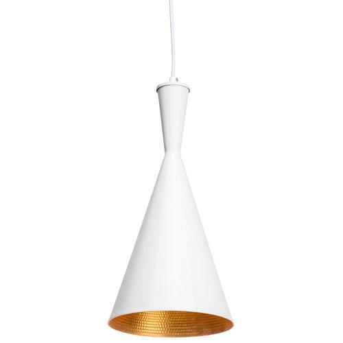 Lue White and Matte Gold One-Light Mini Pendant