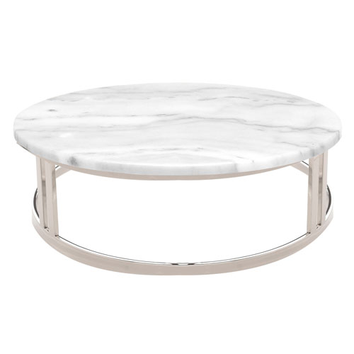 Nicola Matte White Coffee Table