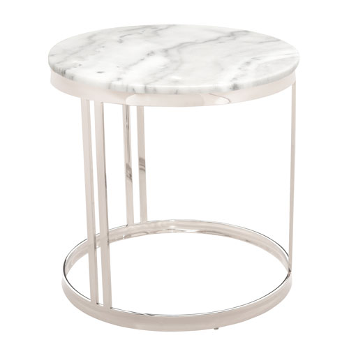 Nicola Matte White Side Table
