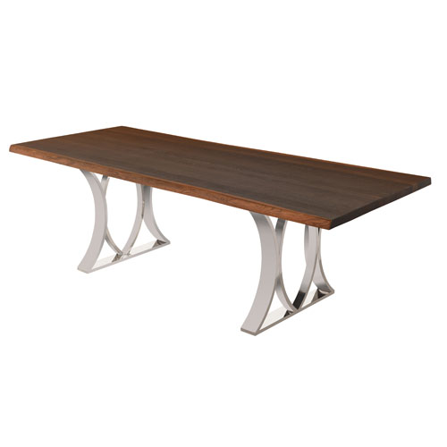 Mila Matte Seared 96-Inch Dining Table