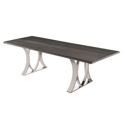 Mila Matte Oxidized Grey 78-Inch Dining Table