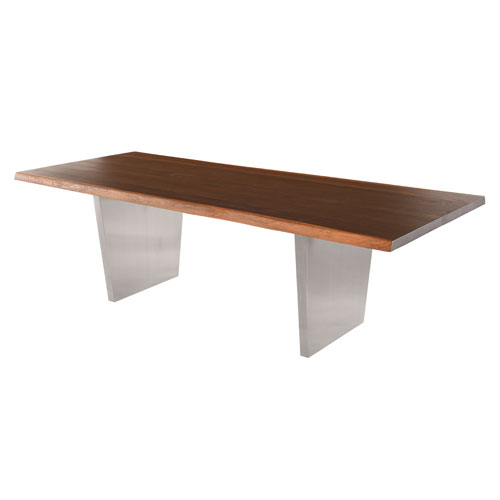 NUEVO Aiden Matte Seared 96-Inch Dining Table