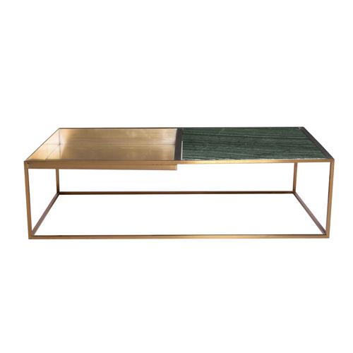 Corbett Matte Green 30-Inch Coffee Table