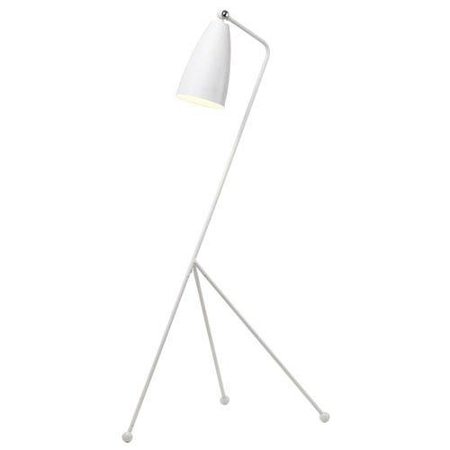 Lucille White One-Light Floor Lamp