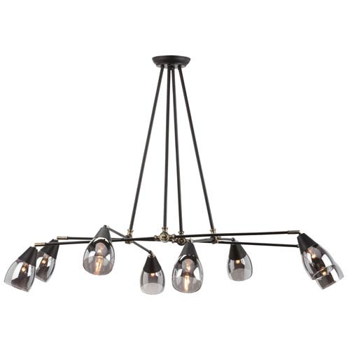 Lanister Smokey Grey Eight-Light Chandelier