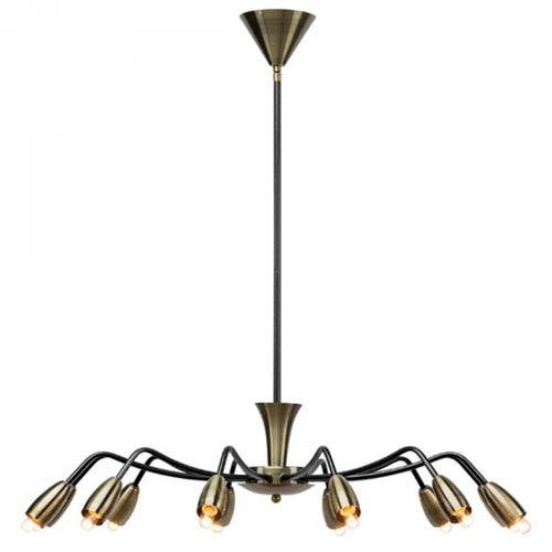 Kendra Antique Brass 12-Light Chandelier