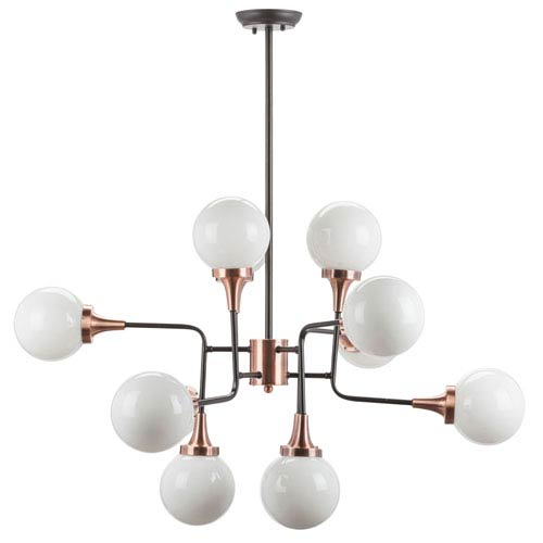 Bella Black and Copper 12-Light Chandelier