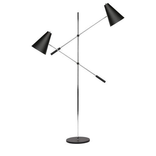 Tivat Black Two-Light Floor Lamp