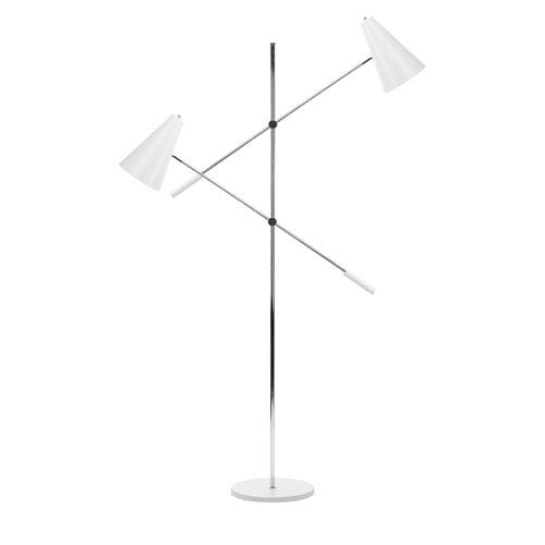 Tivat White Two-Light Floor Lamp