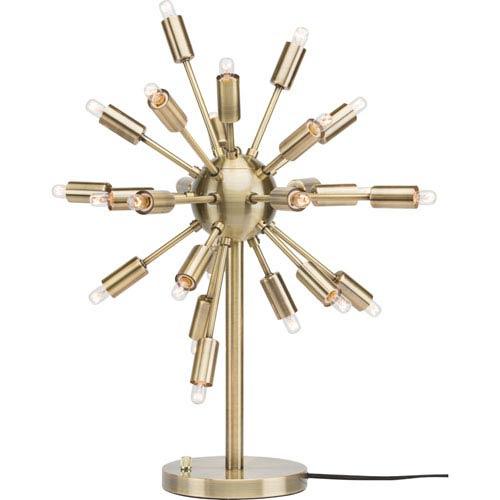 Sputnik Antique Brass 24-Light Accent Lamp