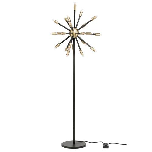 Sergei Black 24-Light Floor Lamp