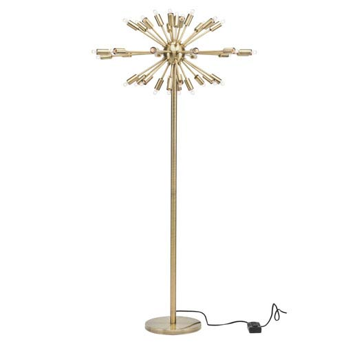 Vladimir Antique Brass 36-Light Floor Lamp