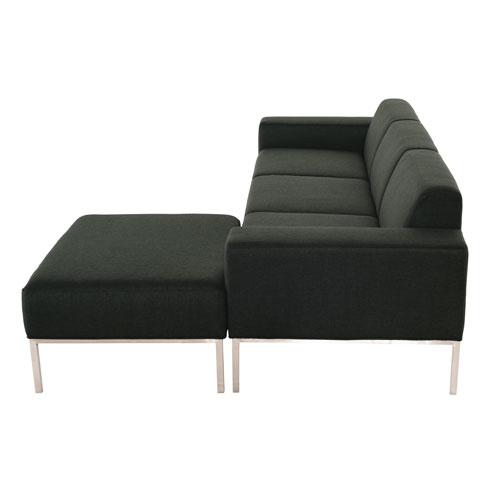 Bryce Matte Hunter Green Tweed Triple Seat Sofa