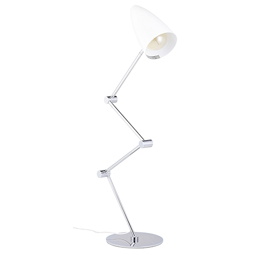 Phillipe White One-Light Floor Lamp