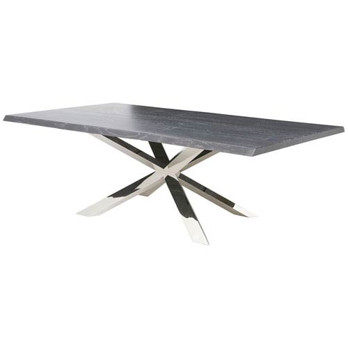 Couture Oxidized Grey 112-Inch Dining Table