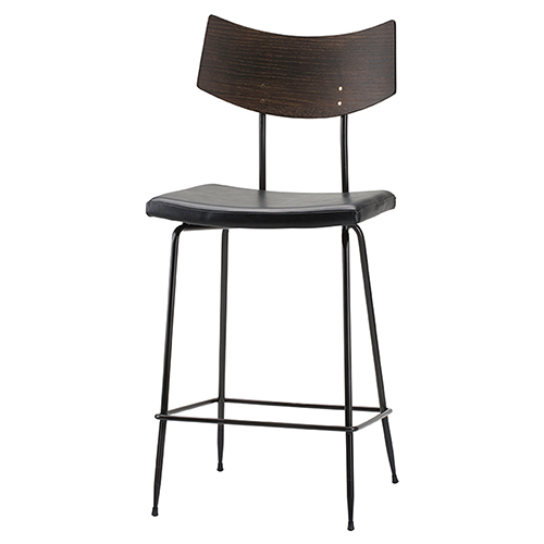 Soli Black Counter Stool