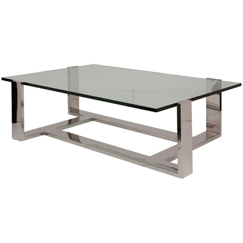 Flynn Clear 62-Inch Coffee Table