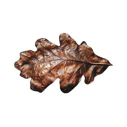 Antique Copper Oak Leaf Bin Pull