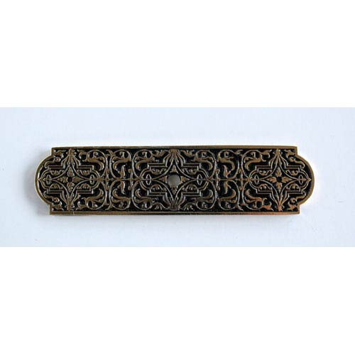 Notting Hill Decorative Hardware Brite Brass Renaissance Back Plate