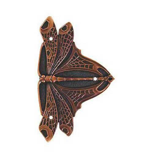 Antique Copper Dragonfly Hinge Plate