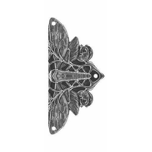 Brite Nickel Cicada Hinge Plate