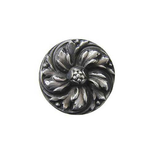 Antique Pewter Chrysanthemum Knob