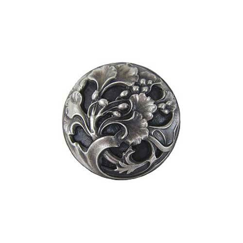 Antique Pewter Florid Leaves Knob