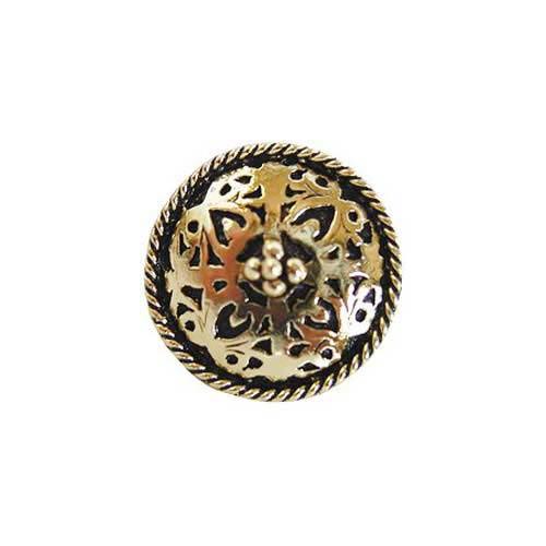 Brite Brass Moroccan Jewel Knob