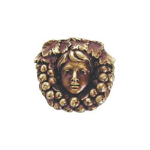 Antique Brass Fruit of the Vine Knob