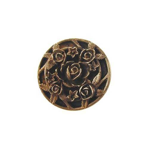 Notting Hill Decorative Hardware Antique Brass Saratoga Rose Knob