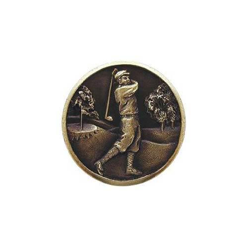Antique Brass Gentleman Golfer Knob