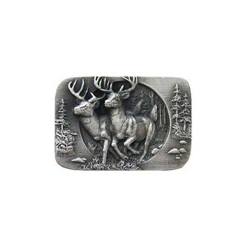 Antique Pewter Bucks On The Run Knob