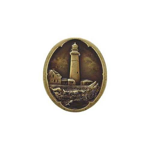 Antique Brass Guiding Lighthouse Knob