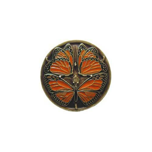 Brass Monarch Butterflies Knob