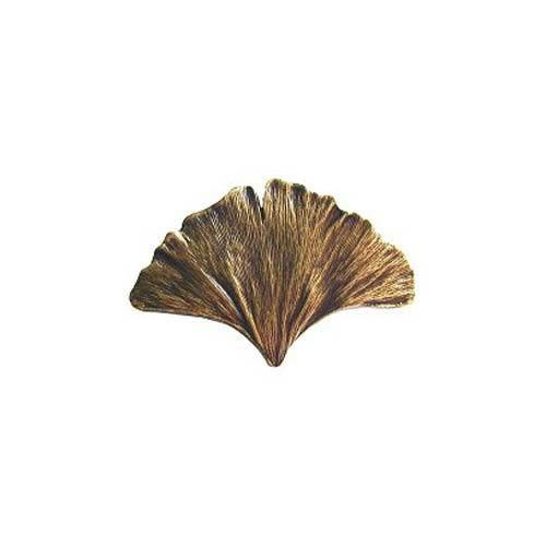 Antique Br Gingko Leaf